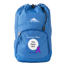Purple Standard Ribbon Template Backpack