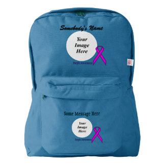 Purple Standard Ribbon Template Backpack