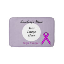 Purple Standard Ribbon Template Bathroom Mat