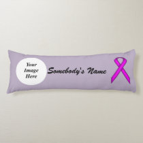 Purple Standard Ribbon Template Body Pillow