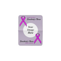 Purple Standard Ribbon Template Business Card Holder