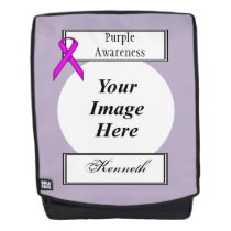Purple Standard Ribbon Template by Kenneth Yoncich Backpack