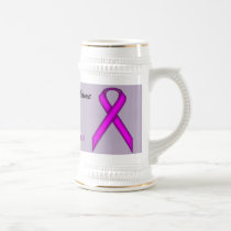 Purple Standard Ribbon Template by Kenneth Yoncich Beer Stein