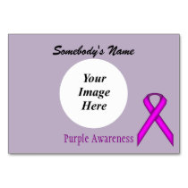 Purple Standard Ribbon Template by Kenneth Yoncich Card