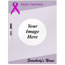 Purple Standard Ribbon Template by Kenneth Yoncich Dry-Erase Board
