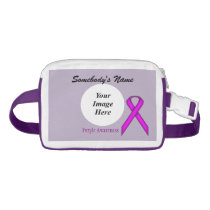 Purple Standard Ribbon Template by Kenneth Yoncich Fanny Pack