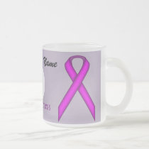 Purple Standard Ribbon Template by Kenneth Yoncich Frosted Glass Coffee Mug