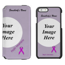 Purple Standard Ribbon Template by Kenneth Yoncich iPhone 6/6s Wallet Case