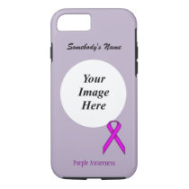 Purple Standard Ribbon Template by Kenneth Yoncich iPhone 8/7 Case