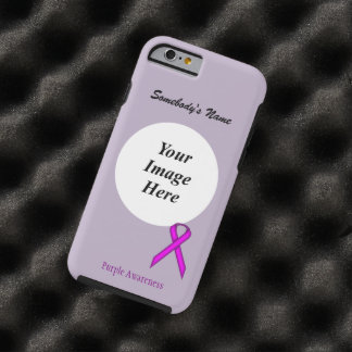 Purple Standard Ribbon Template by Kenneth Yoncich Tough iPhone 6 Case