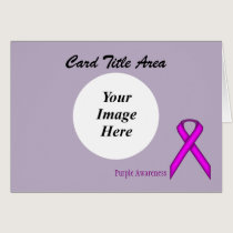 Purple Standard Ribbon Template Card