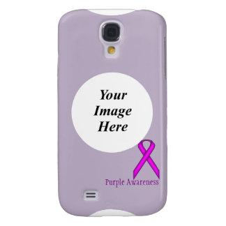 Purple Standard Ribbon Template Galaxy S4 Covers