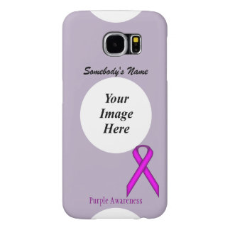Purple Standard Ribbon Template Samsung Galaxy S6 Cases