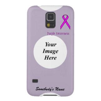 Purple Standard Ribbon Template Galaxy S5 Covers