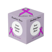 Purple Standard Ribbon Template Cube