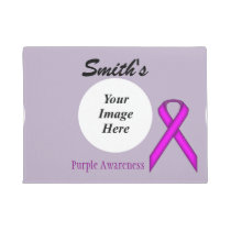 Purple Standard Ribbon Template Doormat