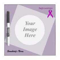 Purple Standard Ribbon Template Dry-Erase Board