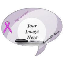 Purple Standard Ribbon Template Dry Erase Board