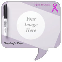 Purple Standard Ribbon Template Dry-Erase Board