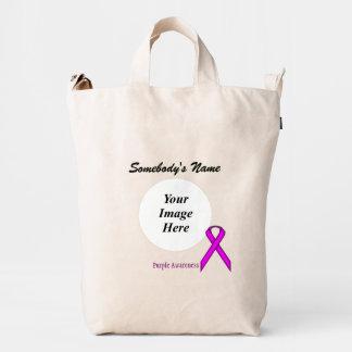 Purple Standard Ribbon Template Duck Bag