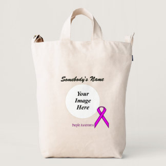 Purple Standard Ribbon Template Duck Bag