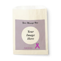 Purple Standard Ribbon Template Favor Bag