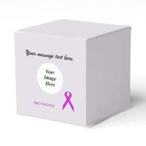 Purple Standard Ribbon Template Favor Box