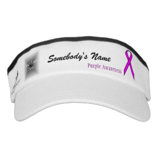 Purple Standard Ribbon Template Headsweats Visor