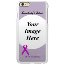 Purple Standard Ribbon Template Incipio Feather Shine iPhone 6 Plus Case