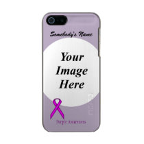 Purple Standard Ribbon Template Metallic iPhone SE/5/5s Case