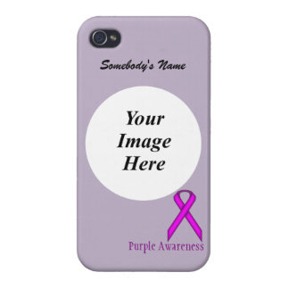 Purple Standard Ribbon Template iPhone 4 Covers
