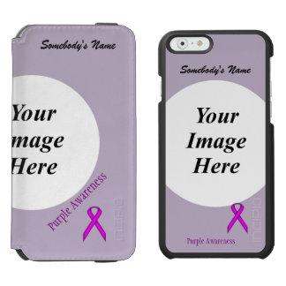Purple Standard Ribbon Template iPhone 6/6s Wallet Case
