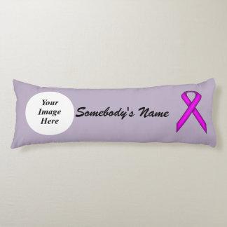 Purple Standard Ribbon Template Body Pillow