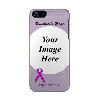 Purple Standard Ribbon Template Metallic iPhone SE/5/5s Case