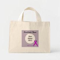 Purple Standard Ribbon Template Mini Tote Bag