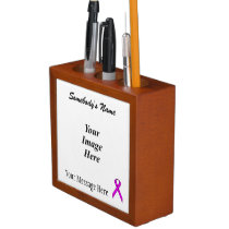 Purple Standard Ribbon Template Pencil/Pen Holder