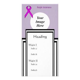 Purple Standard Ribbon Template Photo Card