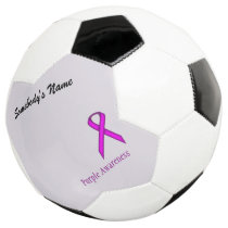 Purple Standard Ribbon Template Soccer Ball