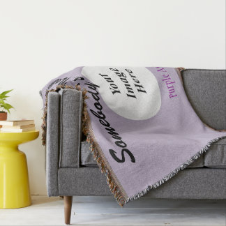 Purple Standard Ribbon Template Throw Blanket