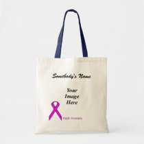 Purple Standard Ribbon Template Tote Bag