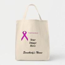 Purple Standard Ribbon Template Tote Bag