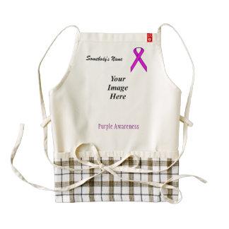 Purple Standard Ribbon Template Zazzle HEART Apron