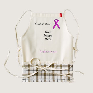 Purple Standard Ribbon Template Zazzle HEART Apron