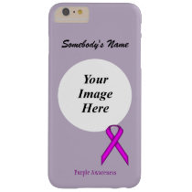 Purple Standard Ribbon Tmpl by Kenneth Yoncich Barely There iPhone 6 Plus Case