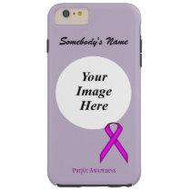 Purple Standard Ribbon Tmpl by Kenneth Yoncich Tough iPhone 6 Plus Case