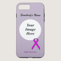 Purple Standard Ribbon Tmpl by Kenneth Yoncich iPhone 7 Plus Case