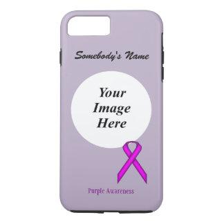 Purple Standard Ribbon Tmpl by Kenneth Yoncich iPhone 7 Plus Case