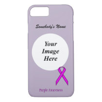 Purple Standard Ribbon Tmpl by Kenneth Yoncich iPhone 8/7 Case