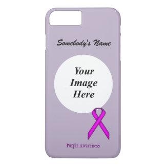 Purple Standard Ribbon Tmpl by Kenneth Yoncich iPhone 8 Plus/7 Plus Case