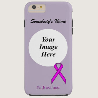 Purple Standard Ribbon Tmpl by Kenneth Yoncich Tough iPhone 6 Plus Case